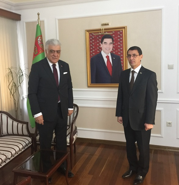 Şamil Ayrım met the Ambassador of Turkmenistan