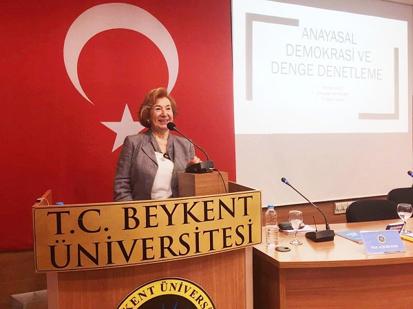 Müjgan Suver spoke at the Symposium on Society and Demo
