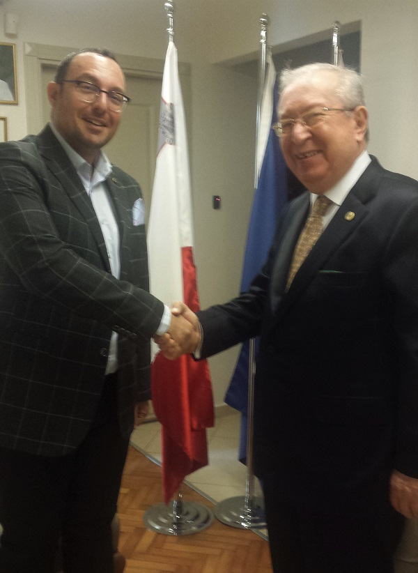 Dr. Akkan Suver visited the Consul General of Malta