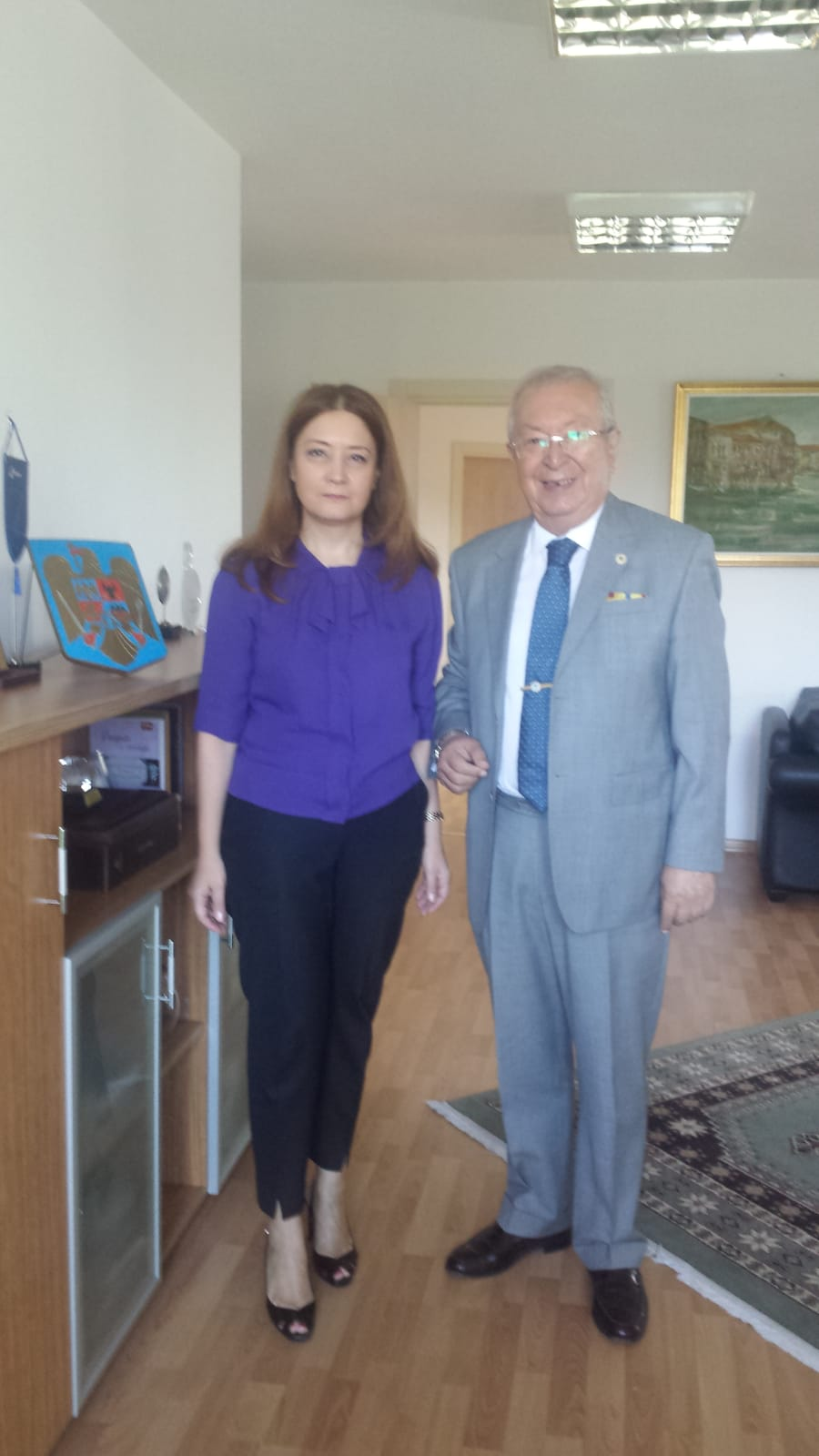 Dr. Suver Visited Consul General of Romania Mme. Adrian