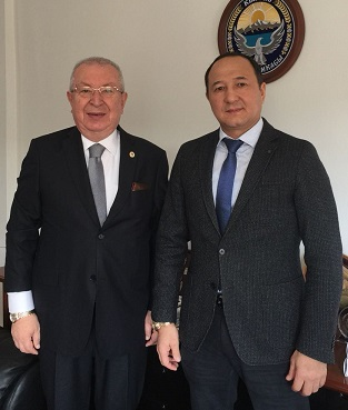 Visiting the Consul General of Kyrgyzstan